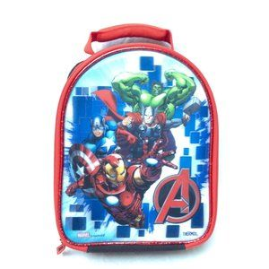 Thermos Marvel Avengers Zip Up Lunch Box Assemble Iron Man Captain America Thor